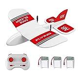 Ferngesteuertes Segelflugzeug, 2,4 GHz, 2 Kanäle, fester Flügel, EPP-Schaum, Mini-Gleiter, integriertes Gyro-System, Mini-Indoor-RC-Gleiter, Flugzeug, Modell-Spielzeug für Kinder und Erwachsene KF606