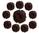 Meloplam - Steckdosensicherung - Kindersicherung - Steckdosenabdeckung - 10 Stück - weiß, transparent, schwarzbraun - Made in EU (schwarzbraun)