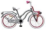 Amigo Lovely - Kinderfahrrad für Mädchen - 20 Zoll - mit Handbremse, Rücktritt, Gepäckträger Vorne, fahrradständer und Beleuchtung - ab 5-9 Jahre - Grau