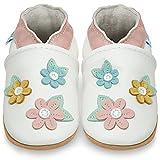 Juicy Bumbles Lauflernschuhe - Krabbelschuhe - Babyhausschuhe - Frühlingsblüten 6-12 Monate (Größe 20/21)