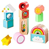 Howa Holzbausteine My Rainbow aus Buche 13 TLG. mit Sound und Funktion 6008