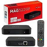 MAG 522w3 Original Infomir & HB-DIGITAL 4K IPTV Set TOP Box Multimedia Player Internet TV IP Receiver # 4K UHD 60FPS 2160p@60 FPS HDMI 2.0# HEVC H.256 Unterstützung # ARM Cortex-A53 + HDMI Kabel