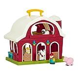 Battat – Große Scheune – Bauernhof Spielzeug Set mit Tieren für Kinder und Babys ab 18 Monaten (6 Teile) Bauernhoftiere Schwein, Pferd, Kuh, Schaf und Bauer