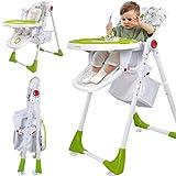 Baby & Kinder Hochstuhl Fütterstuhl Kinderstuhl Babystuhl, Höhenverstellbar, Lehne einstellbar, mit Tisch