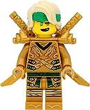 LEGO Ninjago Minifigur Lloyd (Goldener Ninja, gelber Kopf, Haarteil) mit Schulterrüstung und Schwertern