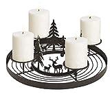Schmucks HOME Adventskranz Metall mit 4 Kerzen Adventskranz modern Kerzenständer Adventskranz DIY