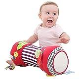 ershixiong Baby Krabbelrolle, Rollkissen für Babys mit multisensorischen Spielzeugen,weich, ideal für das Spielen in Bauchlage geeignet,Fitness-Spielzeug