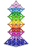 Veatree 206 Stück Magnetische Bausteine Set Spielzeug MagnetSpiel Magnetstäbchen Spielzeug für Kinder (10 Farben)