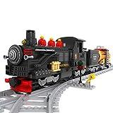 YDDY Baustein City Zug Serie - No.25812 Baustein Dampflok Güterzug Kompatibel mit Lego City - 586 Teile