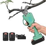 TTLIFE 25mm elektrische Astschere Wiederaufladbarer Akku-Astschneider Obstbaumzweigschere Elektrische Gartenschere Hecke, Zweig, Obst, Baum, Obstgarten
