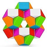 KidsPark Zauberwürfel Magic Snake Cube, 36 Blöcke Magische Schlange Würfel Snake Twist Puzzle Cube Spielzeug für Kinder Erwachsen und Mitgebsel Kindergeburtstag, Mehrfarbig