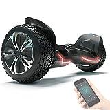 8.5' Premium Offroad Hoverboard Bluewheel HX510 SUV Deutsche Qualitäts Marke- Kinder Sicherheitsmodus & App - Bluetooth - Starker Dual Motor - Elektro Skateboard Self Balance Scooter (Black)