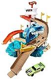 Hot Wheels BGK04 City Color Shifters Hai-Attacke Spielset, großes Spielset inkl. 1 Spielzeugauto und Starter, ab 4 Jahren