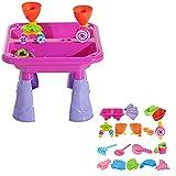 Kinder Spieltisch Sand and Water,Wasserspieltisch Sandkastentisch,für Kinder Ab 3 Jahre, Spieltisch Für Den Innen- Und Außenbereich, Kleinkinder, Jungen, Mädchen