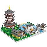 YQRX Architektur West Lake Bausteine, Mini Nano Ziegelsteine Chinesisches architektonisches Modell Kit, Architektur Modell Geschenk für Kinder & Erwachsene