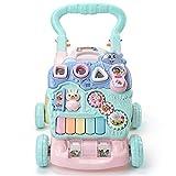 Lauflernwagen für Kleinkinder, Spielzeug fürs Auto, mit Fernbedienung, Musiklicht, abnehmbares Instrumenten-Spielfeld für Jungen und Mädchen (Farbe: Grün, Größe: Einheitsgröße)