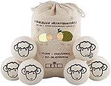 XXXL Trocknerbälle für Wäschetrockner - Der natürliche Weichspüler aus 100% Schafwolle - In Handarbeit gefertigt - Pflegt die Wäsche besser