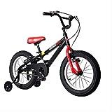 Fahrradgeschwindigkeitsfahrrad Mountainbike Kinderfahrrad Fahrrad 14 Zoll Kutschenfahrrad (Farbe: SCHWARZ, Größe: 14INCH (104 * 17.5 * 55CM))