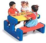 Little Tikes Großer Picknicktisch - Platz für bis zu 6 Personen - Für Hausaufgaben, Projekte und Spiele - Grundfarben