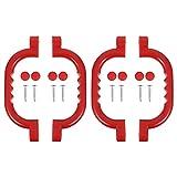 BESPORTBLE Haltegriffe aus robustem 4Pc Kunststoff Haltegriff Kinder Spielplatz Sicherheit Griffe für Spielset Kinder Leiter Griff für Jungle Gym Klettern Rahmen Spielhaus Treehouse (Rot)