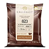 CALLEBAUT Receipe No. 823 - Kuvertüre Callets, Vollmich Schokolade, 33,6 % Kakao, 1 x 400G