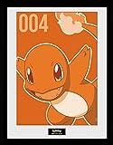 1art1 Pokemon - Glumanda Gerahmtes Bild Mit Edlem Passepartout | Wand-Bilder | Kunstdruck Poster Im Bilderrahmen 40 x 30 cm
