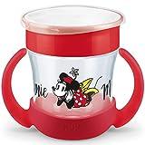 NUK Disney Mini Magic Cup Trinklernbecher   auslaufsicherer 360° Trinkrand   praktische Griffe   160ml   BPA-frei   6+ Monate   Minnie Mouse (rot)