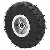 Wosune Inflationsreifen für Elektroroller, 4.10-3,50-4 Reifenreifen mit starkem Griff für Trolleys für Rasenmäher für elektrische Dreiräder