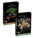 Bundle-Set: Lego Creator Expert Botanical Collection Set: 10280 Flower Bouquet Blumenstrauss + 10281 Bonsai Tree Bonsai Baum