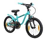 LÖWENRAD Kinderfahrrad für Jungen und Mädchen ab 5 Jahre   18 Zoll Kinderrad mit Bremse   Fahrrad für Kinder   Mint