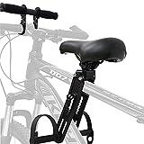 Fetcoi Kindersitz Fahrrad Vorne Fahrradsitz Kinder mit Griff 25,7 cm x 15,7 cm x 9,7 cm für Mountainbikes, Abnehmbarer Einstellbar
