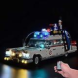 Upgrade Fernbedienung Beleuchtung Licht Set für Lego Ghostbusters ecto-1 10274, Beleuchtung für Lego 10274 ecto 1 (Nicht Enthalten Lego Modell) (mit Fernbedienung)