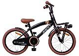 Amigo 2Cool - Kinderfahrrad für Jungen - 18 Zoll - mit Handbremse, Rücktritt, Gepäckträger Vorne, fahrradständer und Beleuchtung - ab 5-8 Jahre - Schwarz