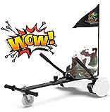 RCB Hoverkart für Hoverboard sitz Zubehör für selbstausgeglichenes Scooter Go Kart Längenverstellbar Kompatibel mit Allen Hoverboards - 6,5/8 / 8,5/10 Zoll für Erwachsene und Kinder (ArmyGreen)