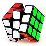 XMD Zauberwürfel Magic Cube 3x3x3 Professionelle Puzzle Cube Brain Teaser Spielzeug für Kinder (Schwarz)