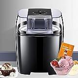 Eismaschine Speiseeismaschine, fertiges Dessert in 15-30 Minuten, 1,5L Softeismaschine für Zuhause mit Drehknopf, Speiseeismaschine Geeignet für Eiscreme/Frozen Joghurt und Sorbet, inkl. Rezepte