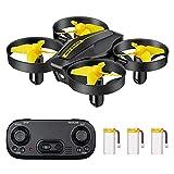 DEVASO Mini Drohne für Kinder und Anfänger mit 3 Akkus Quadrocopter RC Drone, Mini Helikopter mit Kopfloser Modus Throw'N Go, 3 Geschwindigkeitsmodi, Spielzeug Drohne für Anfänger Kinder