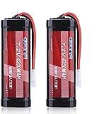 AWANFI RC AKKU 7,2V 4200mah NiMH mit Deans T Stecker, Akku Pack Modellbau Batterie Ersatzakku für RC Auto Boot Buggy (2 Pack)