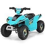 DREAMADE 6V Elektrischer Kinder-Quad mit Rückwärtsgang & elektrischer Bremse, Kinderfahrzeug, für Kinder ab 3 Jahren, Tragfähigkeit bis 30 kg, max. 4,6 km/h schnell, Elektrofahrzeuge (Blau)