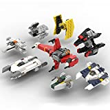 Elroy369Lion Mikro Space-Wars Rebels Spacecraft Ziegelmodell Kompatibel mit Lego Star Wars, MOC DIY Konstruktion Sci-Fi Stars Space Wars Kollektion Bauspielzeug, MOC-50457 (368 Teile)