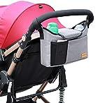 AEMIAO Kinderwagen Organizer Universale Kinderwagentasche Buggy Pram Organizer, Unverzichtbares Kinderwagen-Zubehör Aufbewahrungstasche