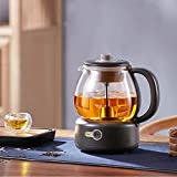 LYBT Glas-Tee-Wasserkocher Deluxe,Elektrischer Teekocher,600 W,1 Liter,Aufwärmfunktion und Trockengehschutz,BPA-frei