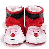 Neugeborene Baumwolle Kleinkinderschuhe,Baby rutschfest Booties,Jungen Mädchen 0-18 Monate Winterschuhe,Warme Weich Lauflernschuhe Zum Weihnachten Zuerst Geburtstag Geschenk,Red b,11cm