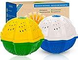 HEIMATREIN Öko Waschball | 2 Waschkugeln für Doppelte Reinigungskraft | Mehrere 100 Euro sparen | 100% Recycelt | Gegen Muffigen Geruch - Waschkugel für Waschmaschine , Ecoegg , Wäscheball