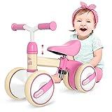 Gonex Kinder Laufrad 1 Jahr, Lauffahrrad H?henverstellbar, Baby Laufrad 4 R?der Rutschrad Jungen M?dchen Geschenk f¨¹r Kinder ab 10-36 Monate