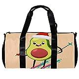 Runde Sporttasche mit abnehmbarem Schultergurt, niedliche Avocado-Kinder-Ski-Trainings-Handtasche für Damen und Herren