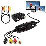 DIGITNOW! Video Grabber Überträgt Hi8 VHS auf Digital DVD für Windows 10 / Mac, Video Capture Karte mit Scart /AV Adapter,One-Touch-Videorecorder-Bearbeiten,Videos Digitalisieren