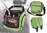 Rucksack Tasche für Toniebox und Zubehör mit Schultergurt und Auto-Halterung | Platz für 16 Hörfiguren Ladestation Lauscher | GRÜN | passend auch für Tigerbox Touch | Transporttasche Reisetasche