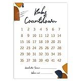 Baby Countdown DIN A4 Kalender Poster - SSW Rechner, Tage bis zur Geburt, Geschenk für werdende Mama (Modern Lineart)