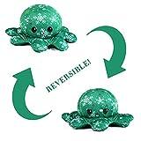 Weihnachten Oktupus Stimmungs Kuscheltier Octopus Plüschtier Wenden Tintenfisch Kuscheltier Doppelseitig Mood Octopus, Krake Kuscheltier, Weihnachts Geschenke für Kinder Mädchen Jungen Damen